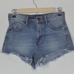 Express cut off shorts high rise size 0